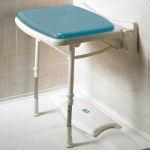 Asiento abatible de ducha con patas
