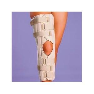 Inmovilizador de rodilla rígido post-quirúrgico