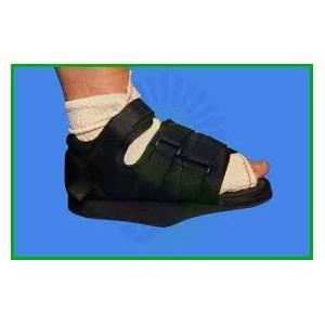 Zapato post-quirúrgico de tacón invertido con velcros